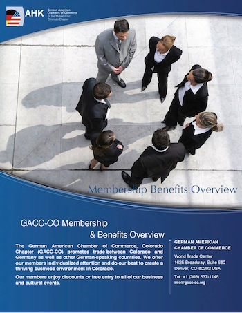 GACC-CO Membership Benefits Package 2013
