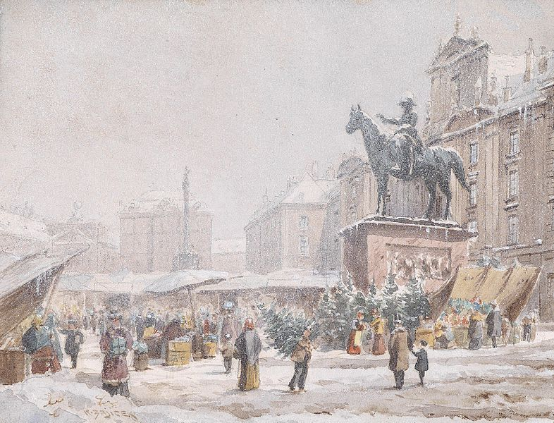 Karl Wenzel Zajicek, Christmas Market at Hof