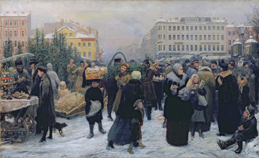 Weihnachtsmarkt - Heinrich Matvejevich Maniser